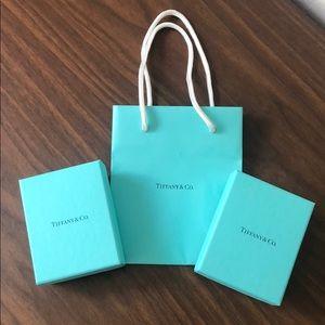 Tiffany boxes & bag